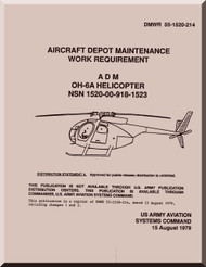 "Hughes OH-6A "" Cayuse "" Aviation Unit and Intermediate Maintenance Manual  DRW 551520-214, 1979"