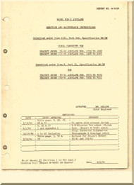 Naval Aircraft  Factory N3N-3  Erection and Maintenance  Manual Report M-4094-