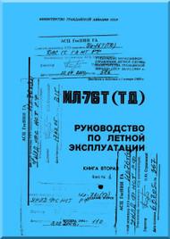 Ilyushin Il-76   Aircraft Flight  Manual - Book - 2-1 ( Russian  Language ) - 1984