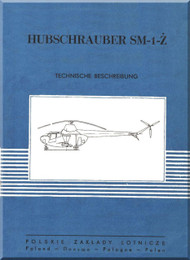 PZL SM-1Z  Helicopter Rotocraft Technical Brochure  Manual ( Polish Language )