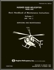 Hughes 369  / 500   Maintenance  Manual   PN CSP-D-2 , 1982