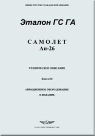 Antonov An-26   Aircraft  Technical Description  Manual  - Book 3 - ( Russian   Language )