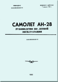 Antonov An-28   Aircraft Flight    Manual  ( Russian   Language )