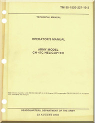 Boeing  Helicopter CH-47 C Flight  Manual  -1992, TM 55-1520-227-2