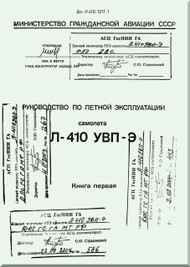 Let L-410 UVP-E,  Aircraft  Flight  Manual -  Book 1 -  ( Russian  Language ) -