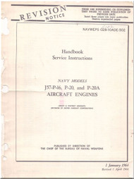 Pratt & Whitney J57-P16, P-20, P-20A  Aircraft Engine Service Instructions  Manual  ( English Language ) -1964