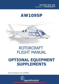 Agusta Westland AW-109 SP Rotorcraft Flight  Optional Equipment Supplements Manual  ( English Language  )