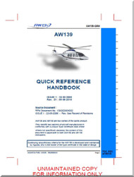 Agusta Westland AW-139  Quick Reference Handbook  Manual  ( English Language  )