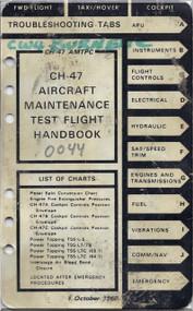 Boeing  Helicopter CH-47 Maintenance Test Flight Handbook  Manual  -