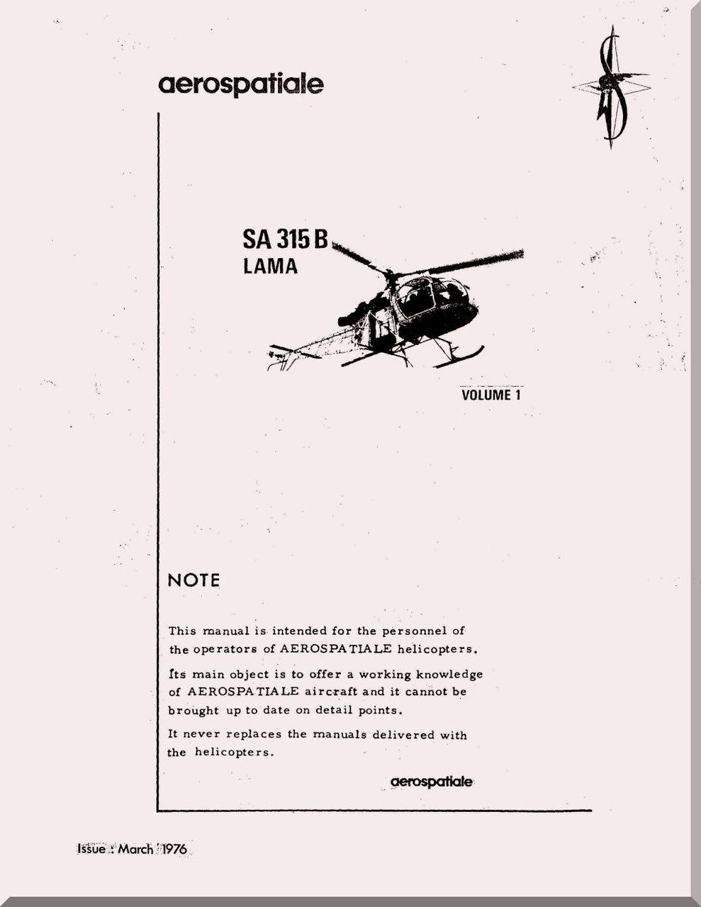 Sud Aviation / Aerospatiale SA.315 B Helicopter Training