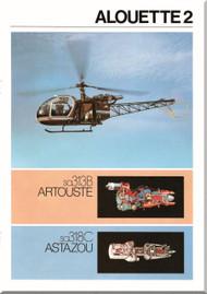 Sud Aviation / SCASE  / Aerospatiale  Alouette II Helicopter sa313B sa318C  Technical Brochure Manual