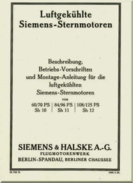 Siemens & Halske Sh 10 Sh 11 Sh 12   Engine  Manual (  Beschreiburg ), (German Language )