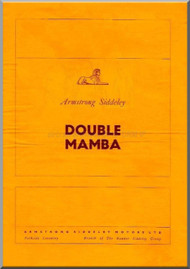 Armstrong Siddeley Double  Mamba Engine Technical Sevice  Manual A.P. 439A, Vol 1 Part 1   ( English Language )