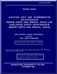 Boeing  Helicopter CH-47 D Series Aviation and Intermediate Maintenance  Repair Parts and Special Tools List Manual  - 1983 - TM 55-1520-240-23P-3