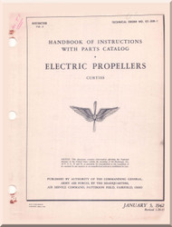 Curtiss Electric Propellers  Handbook of Instruction with Parts Catalog  Manual -