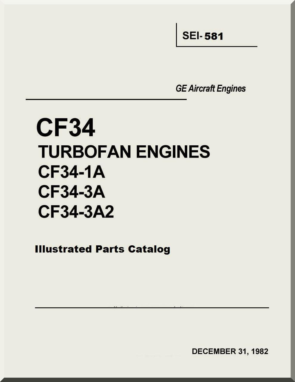 General Electric CF34 Turbofan Engines CF34-1A CF34-3A