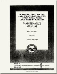 Pratt & Whitney WASP S3H1, S1H1, S1H2 and S3H1G Aircraft Engine Maintenance  Manual 1966
