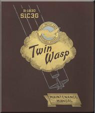 Pratt & Whitney R-1830 - Twin Wasp  S1C3G  Maintenance Manual  -