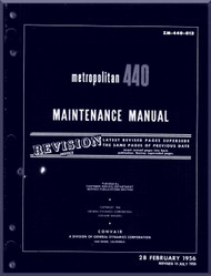 Convair 440 Aircraft Maintenance  Manual - 1956 - ZM-440-012