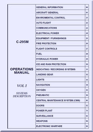 CASA / EADS C-295 M  Aircraft Operations Manual VOL 1 - ( English Language )