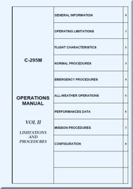 CASA / EADS C-295 M  Aircraft Operations Manual - Limitations and Procedures VOL 2 - ( English Language )