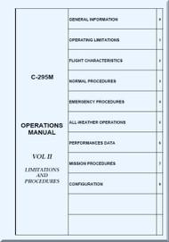 CASA / EADS C-295 M  Aircraft Operations Manual - Limitations and Procedures VOL 2 - ( English Language )