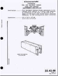 Aerospatiale / BAe / BAC  Concorde  Aircraft Illustrated Tool and Equipment  Manual -  ( English Language )