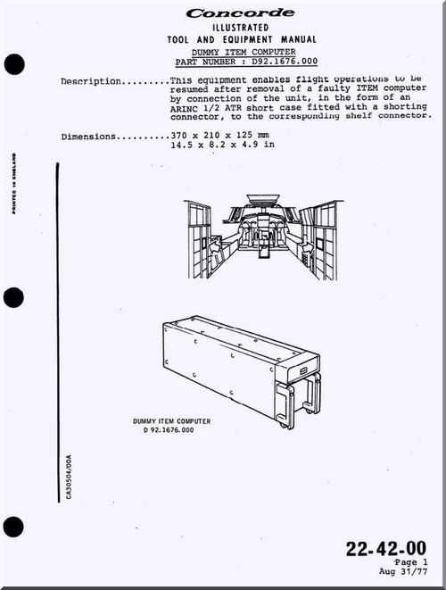 Aerospatiale / BAe / BAC Concorde Aircraft Illustrated