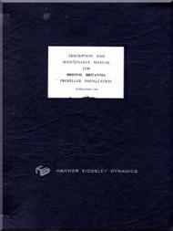 Bristol Britannia Propeller Installation Description and Maintenance Manual -  ( English Language )