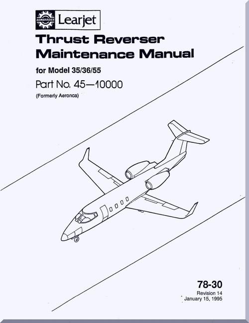 Learjet Model 35/36/55 Aircraft Engine Thrust Reverser