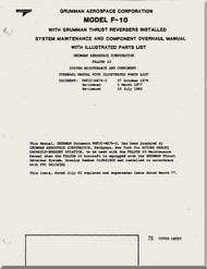 Grumman Aerospace Corporation Model F-10 Aircraft Engine Thrust Reverser  System  Maintenance  Component Overhaul with Illustrated Part List   Manual  ( English Language )