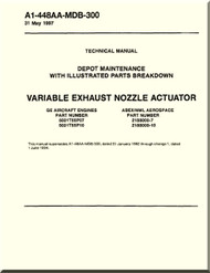 Variable Exhaust Nozzle Actuator  Depot Maintenance  with  Illustrated Parts Breakdown  Manual NAVAIR A1-448AA-MDB-300