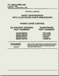 Power Lever Control     Depot Maintenance  with  Illustrated Parts Breakdown  Manual NAVAIR A1-760AA-MDB-300