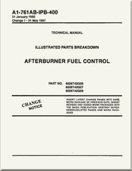 Afterburner  Fuel Control  Illustrated Parts Breakdown     Manual NAVAIR A1-761AB-MDB-400