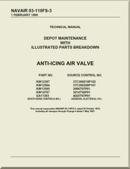 Anti-Icing Air Valve  Depot Maintenance Instructions with  Illustrated Parts Breakdown  Manual NAVAIR 03-110FS-3