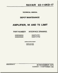 Amplifier, NF and T5 Limit Depot Maintenance  Manual NAVAIR 03-110KD-17