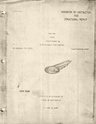 Timm Aircraft N2T -1 Tutor Handbook of Instruction for Structural  Repair   Manual  - 1943