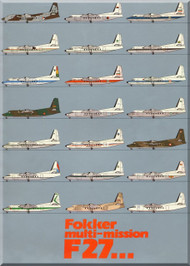 Fokker  F-27  Multi-Mission Technical Brochure   Manual - 1981