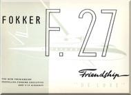 Fokker  F-27  Friendship  Delux  Technical Brochure   Manual 1960