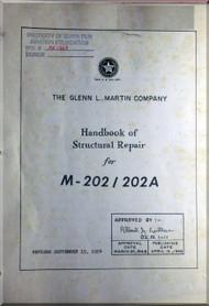 Glenn Martin 202  Aircraft Handbook Structural Repair   Manual -