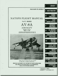 Mc Donnell Douglas AV-8A Aircraft Flight Manual - 01-AV8A-1