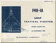 Mc Donnell Douglas F-4H -1 A Aircraft Tactical Fighter Reports No. 7182  Manual -1959