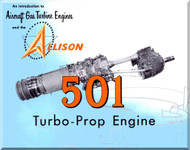 Allison 501 Turbo Prop   Aircraft Engine  Technical Brochure Manual