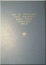 De Havilland Dove Aircraft Spare Parts Catalogue - Vol.2 - Manual