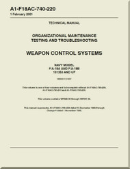 Mc Donnell Douglas F / A -18A  and F / A -18 B  Aircraft  Organizational Maintenance - Testing and Troubleshooting - Weapon Control  Systems - A1-F18AC-740-220
