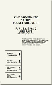 Mc Donnell Douglas F / A -18 A / B / C / D  Aircraft  Pocket Checklist Manual A1-F18AC-NFM-500