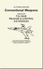 Mc Donnell Douglas F / A 18 A / B / Aircraft  Conventional Weapons Checklist - Release and Control A/G Missiles - A1-F18AC-LWS-220