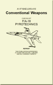 Mc Donnell Douglas F / A 18  Aircraft  - Conventional Weapons - Pyrotechnics  - A1-F18AE-LWS-410