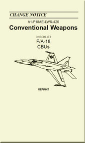 Mc Donnell Douglas F / A 18  Aircraft  - Conventional Weapons - CBUs - A1-F18AE-LWS-420