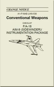 Mc Donnell Douglas F / A 18  Aircraft  - Conventional Weapons - Checklist  AIM-9 ( Sidewinder ) / Instrumentation Package    - A1-F18AE-LWS-530